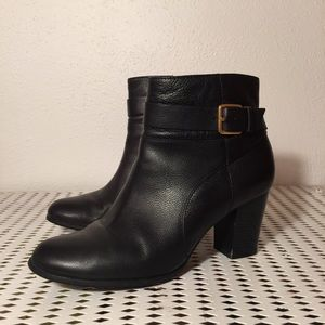 COLE HAAN Rhinecliff black leather ankle boot